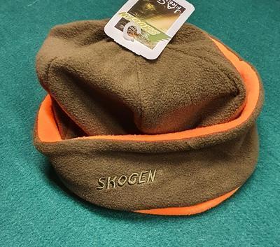 Oboustranná čepice Fleece Skogen oranžová/zelená