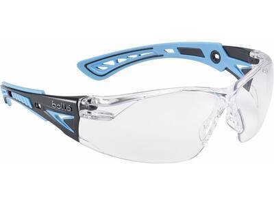 Bollé Safety brýle střelecké Rush+ čiré, modré nožičky