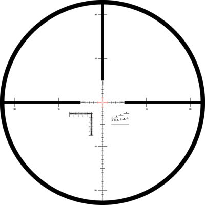 Kahles K318i 3,5-18x50 s osnovou MSR/Ki, cw, left, MIL - 2