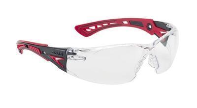 Bollé Safety brýle střelecké Rush+ čiré, červené nožičky - 2