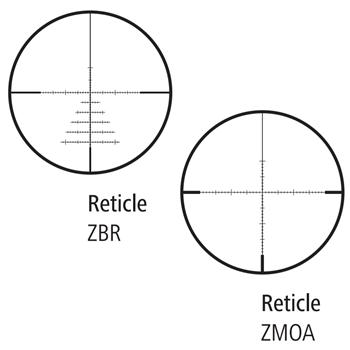 Zeiss Conquest V4 6-24x50 s balistickou věžičkou, bez červeného bodu, s osnovou ZBR-1 nebo ZMOA-1 - 3
