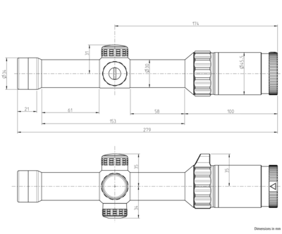 Kahles K16i 1-6x24 s osnovou SI1, MIL - 5