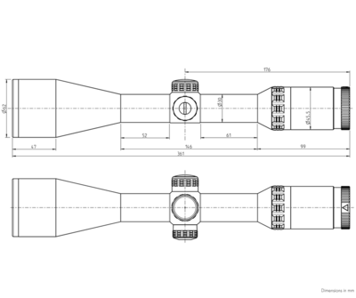 Kahles Helia 2,4-12x56i s červeným bodem a osnovou 4-Dot - 7