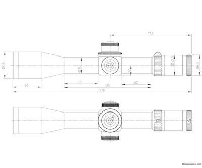 Kahles K18i 1-8x24 s osnovou 3GR, MIL - 7
